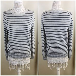 Vince Striped Sweater Size S